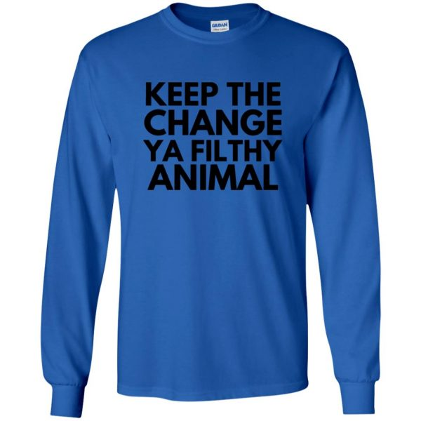 filthy animal long sleeve - royal blue