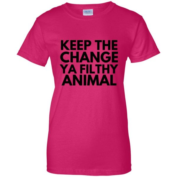 filthy animal womens t shirt - lady t shirt - pink heliconia