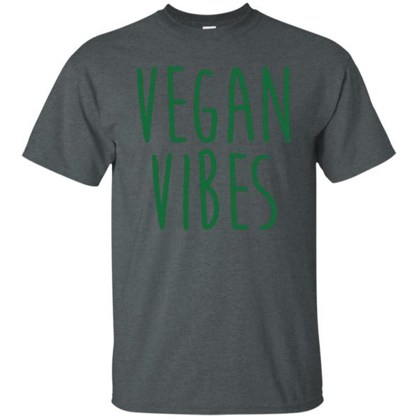 vegan vibes t shirt - dark heather