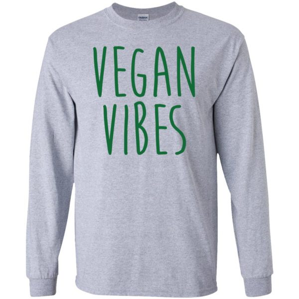 vegan vibes long sleeve - sport grey
