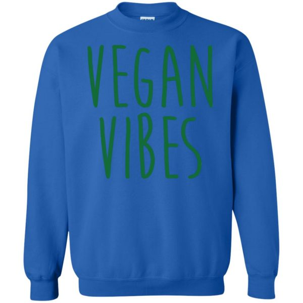 vegan vibes sweatshirt - royal blue