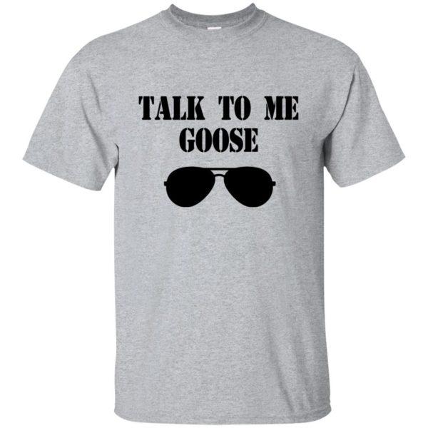 talk to me goose t shirt - sport grey
