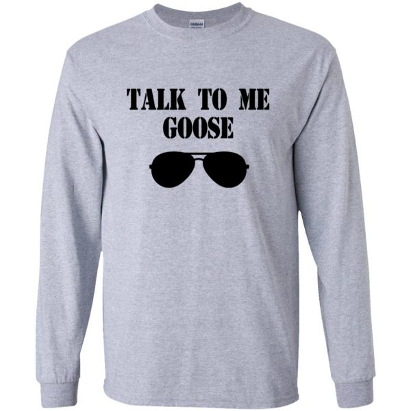 talk to me goose long sleeve - sport grey