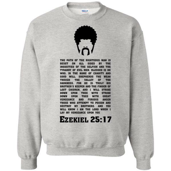 ezekiel 25 17 sweatshirt - ash