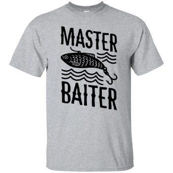 master baiter t shirt - sport grey