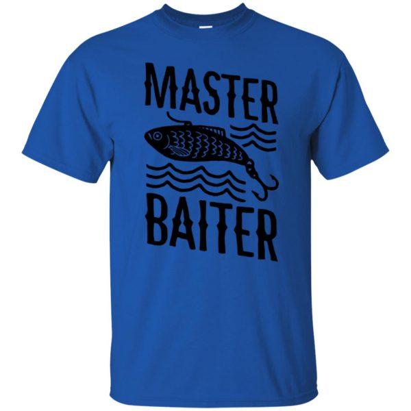 master baiter t shirt - royal blue