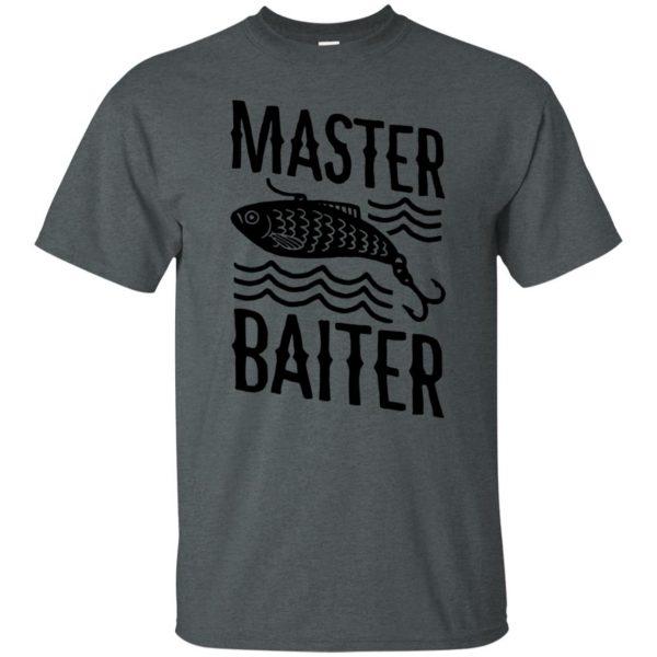 master baiter t shirt - dark heather