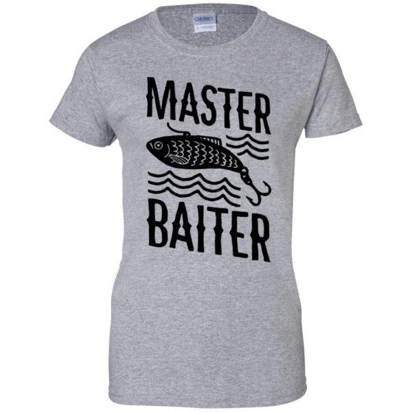 master baiter womens t shirt - lady t shirt - sport grey