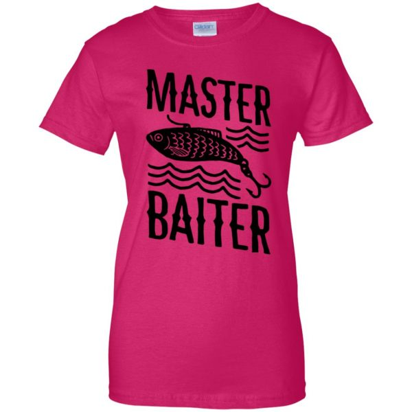 master baiter womens t shirt - lady t shirt - pink heliconia