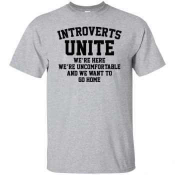 introvert t shirts - sport grey
