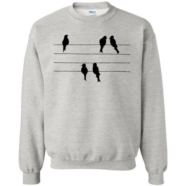 birds on a wire sweatshirt - ash