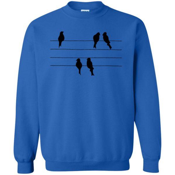 birds on a wire sweatshirt - royal blue