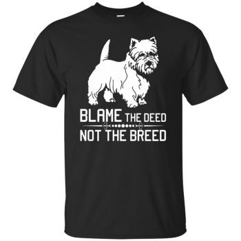 cairn terrier t shirt - black