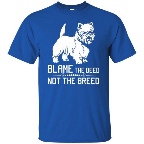 cairn terrier t shirt - royal blue