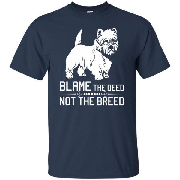 cairn terrier t shirt - navy blue