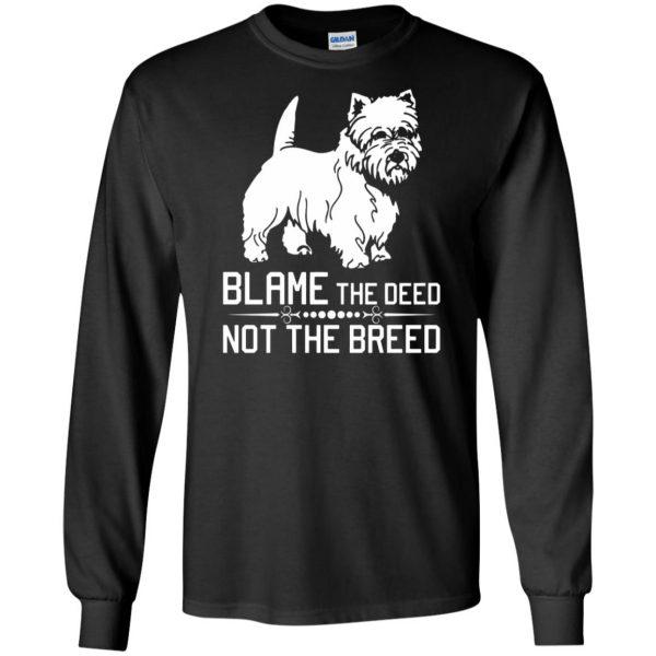cairn terrier long sleeve - black