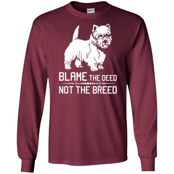 cairn terrier long sleeve - maroon