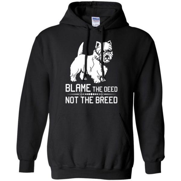 cairn terrier hoodie - black