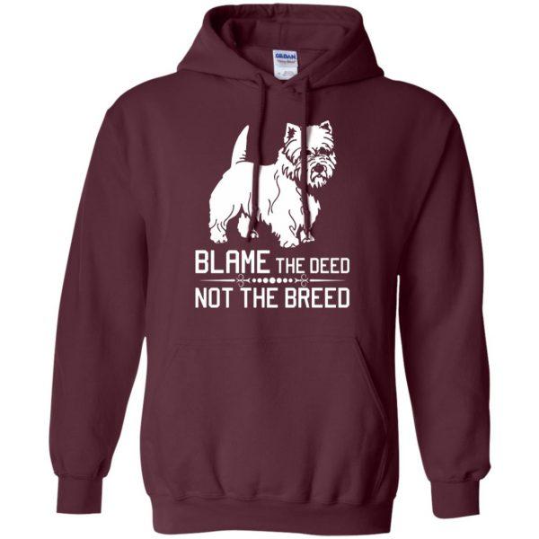 cairn terrier hoodie - maroon