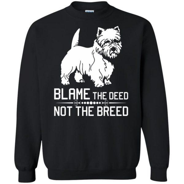 cairn terrier sweatshirt - black