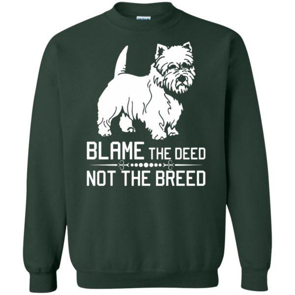 cairn terrier sweatshirt - forest green