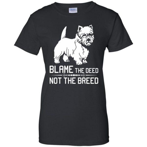 cairn terrier womens t shirt - lady t shirt - black