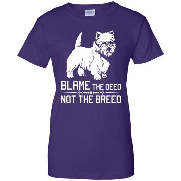 cairn terrier womens t shirt - lady t shirt - purple