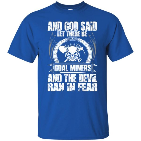 coal miner t shirt - royal blue