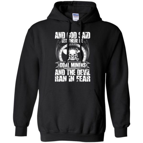 coal miner hoodie - black