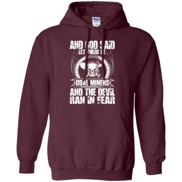 coal miner hoodie - maroon
