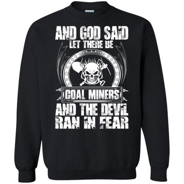 coal miner sweatshirt - black
