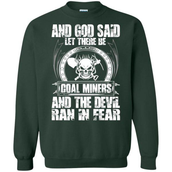 coal miner sweatshirt - forest green