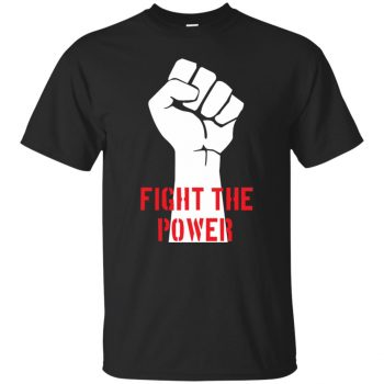 fight the power tshirt - black