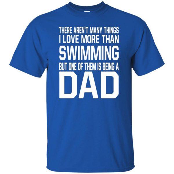 swim dad t shirt t shirt - royal blue