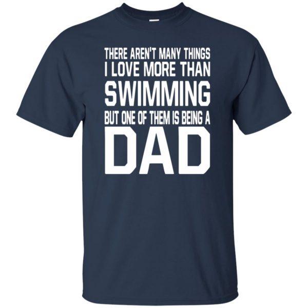 swim dad t shirt t shirt - navy blue