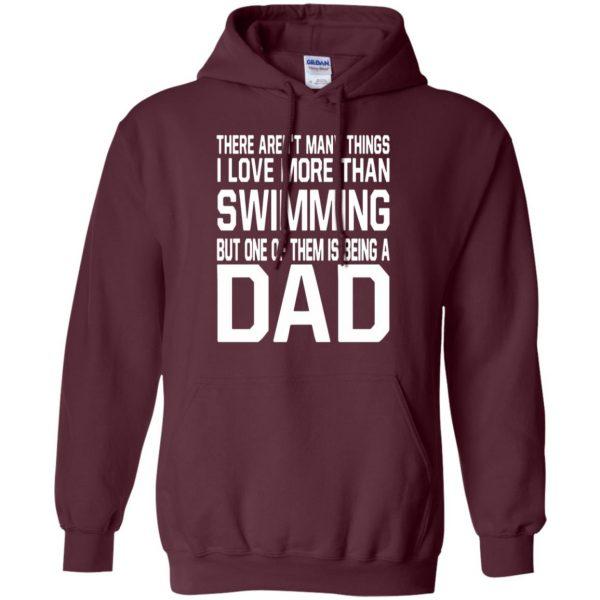 swim dad t shirt hoodie - maroon