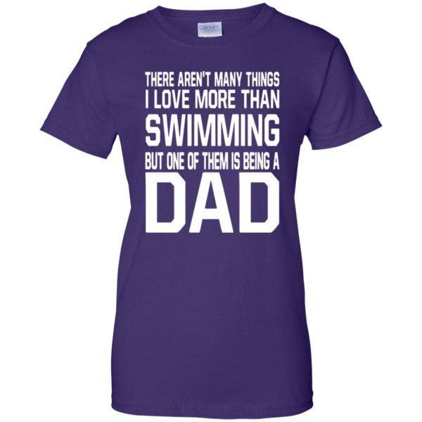 swim dad t shirt womens t shirt - lady t shirt - purple