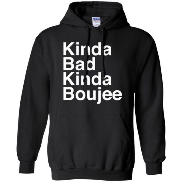kinda bad kinda boujee hoodie - black