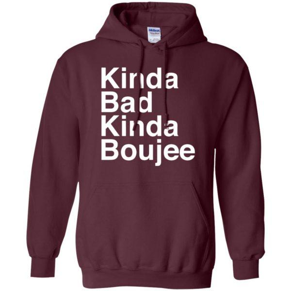 kinda bad kinda boujee hoodie - maroon
