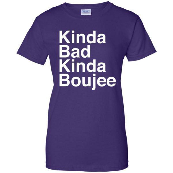 kinda bad kinda boujee womens t shirt - lady t shirt - purple