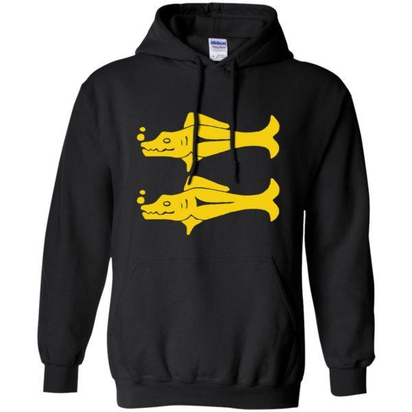 blue barracudas hoodie - black