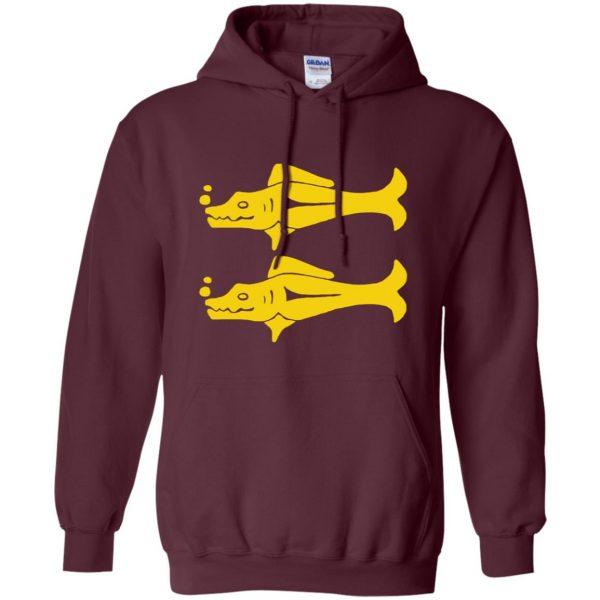 blue barracudas hoodie - maroon