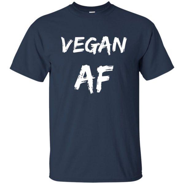 vegan af t shirt - navy blue
