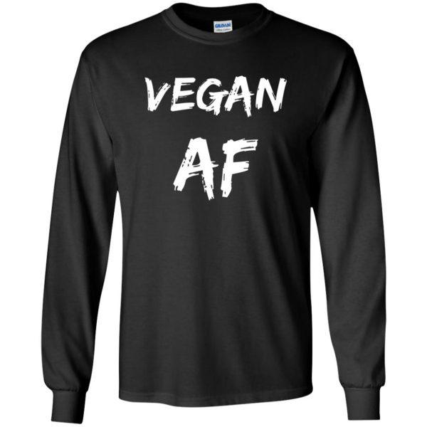 vegan af long sleeve - black