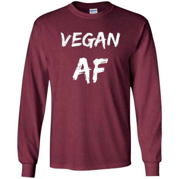 vegan af long sleeve - maroon