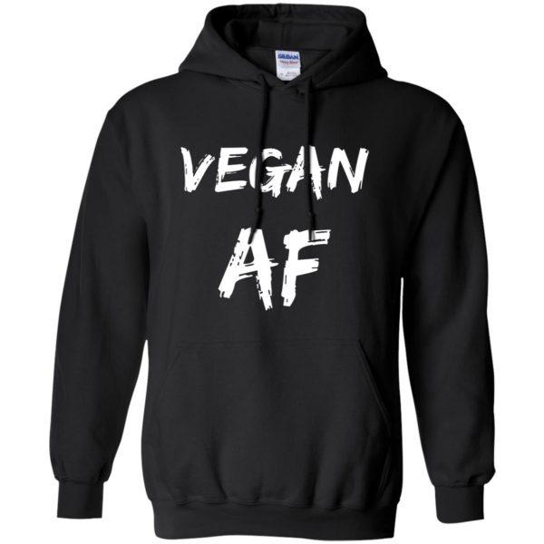 vegan af hoodie - black