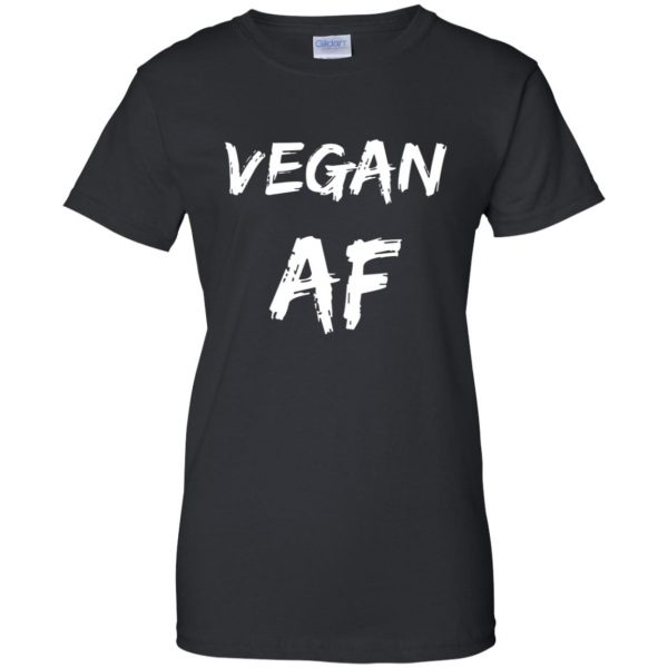 vegan af womens t shirt - lady t shirt - black
