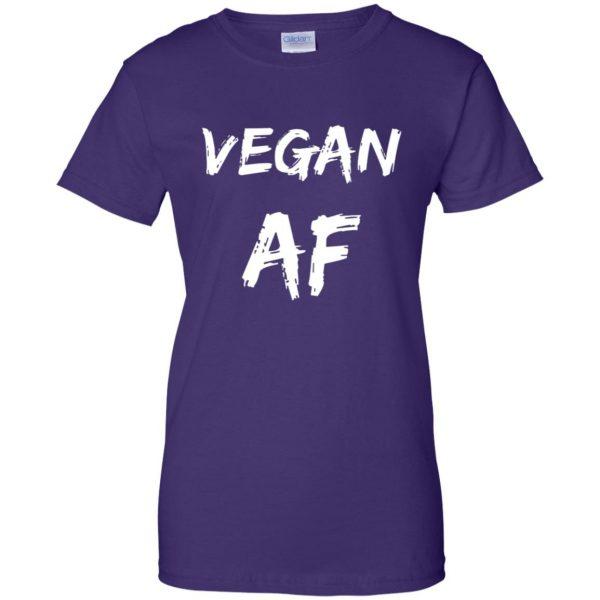 vegan af womens t shirt - lady t shirt - purple