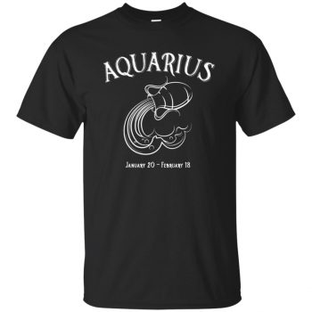 aquarius sweatshirt - black