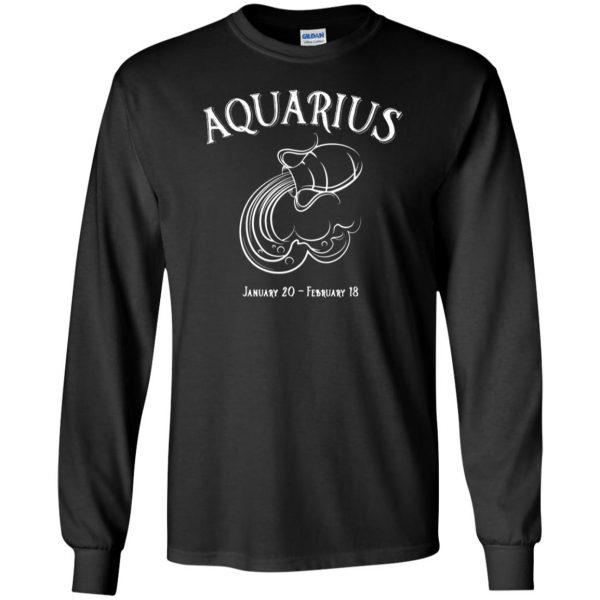 aquarius sweatshirt long sleeve - black